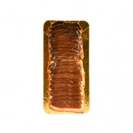 Sliced smoked duck breast